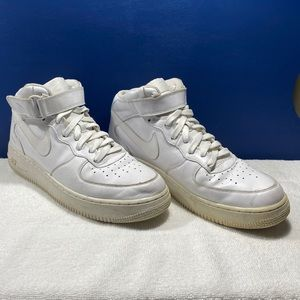 Nike Air Force 1s Mid Men's White Sz 10